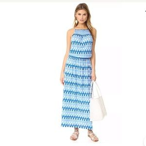 Soft Joie Kimi Maxi Dress Ikat Blues Print
